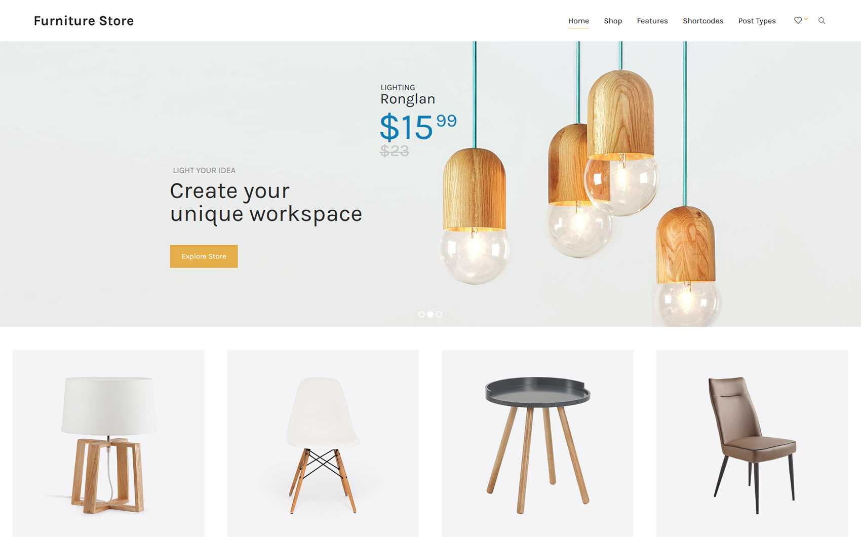 Responsive WooCommerce Thema over Huis Remodeling  Groot  Screenshot