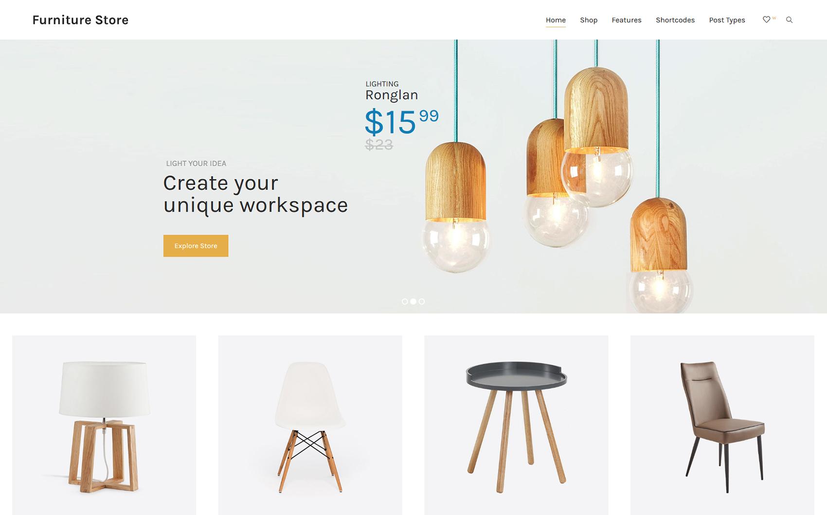Responsives WooCommerce Theme für Wohnungsmodernisierung  Großer Screenshot