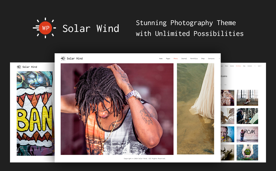 Plantilla Web para Sitio de Galerías de fotografía Captura de Pantalla Grande