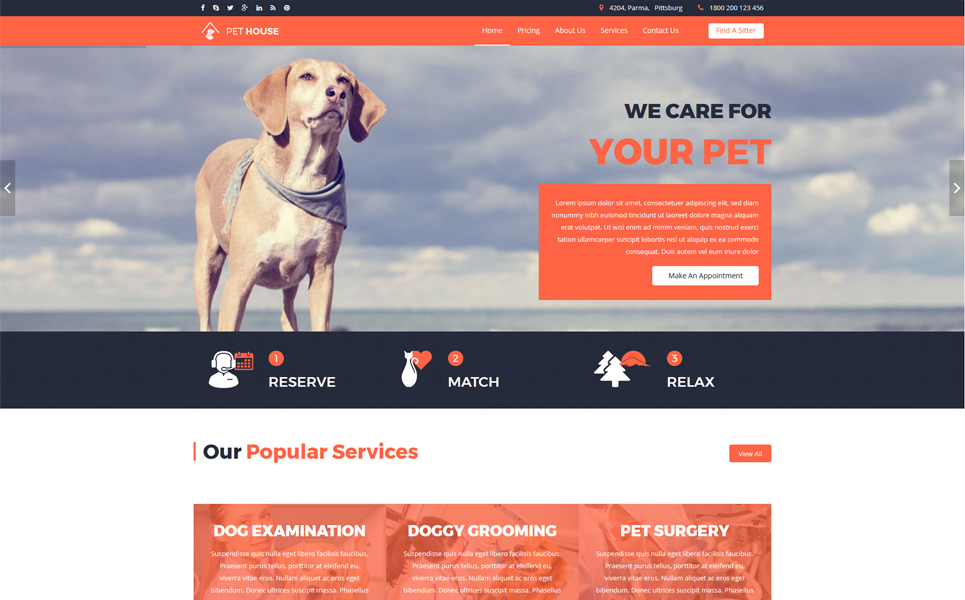 Pet House - Pet Care Service Joomla Template