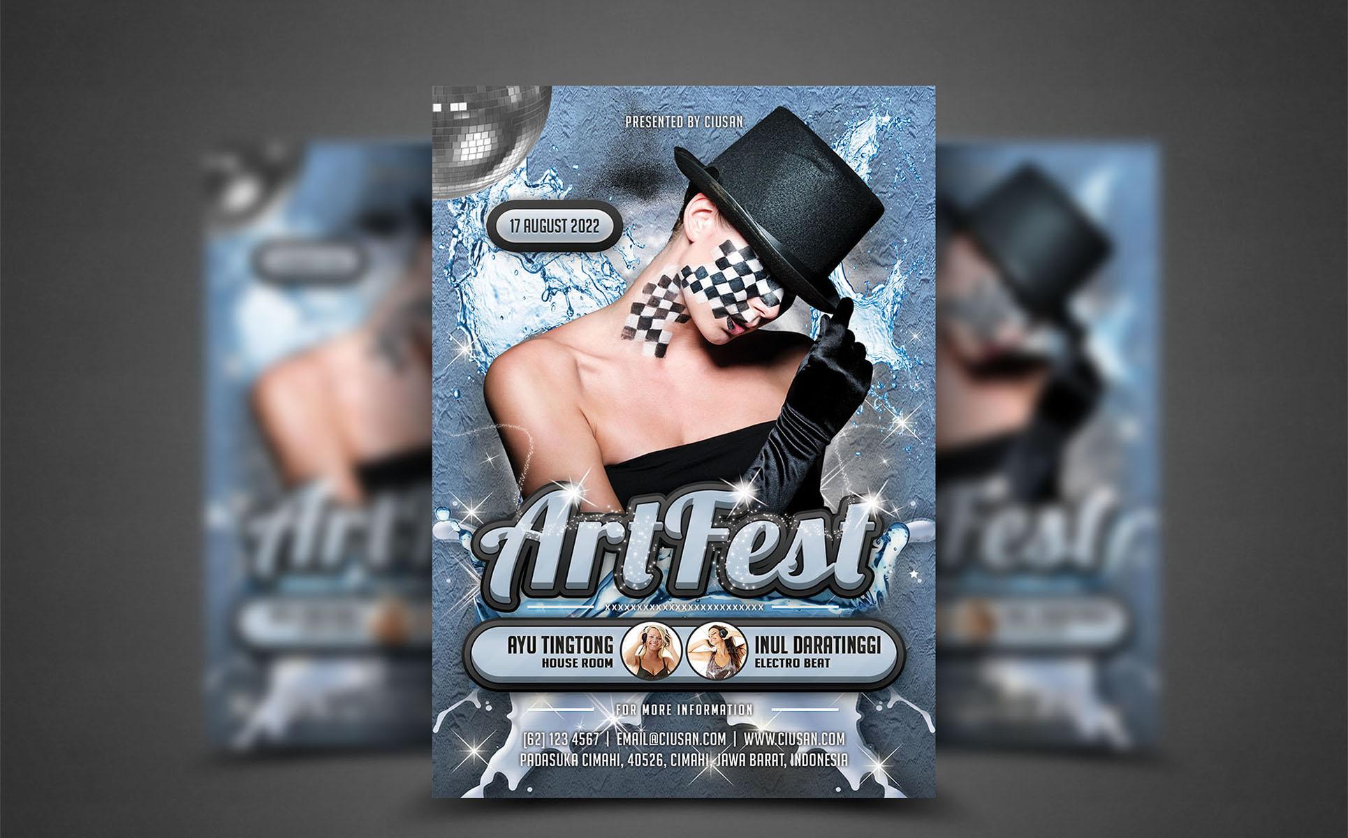 Art Fest Flyer PSD Template