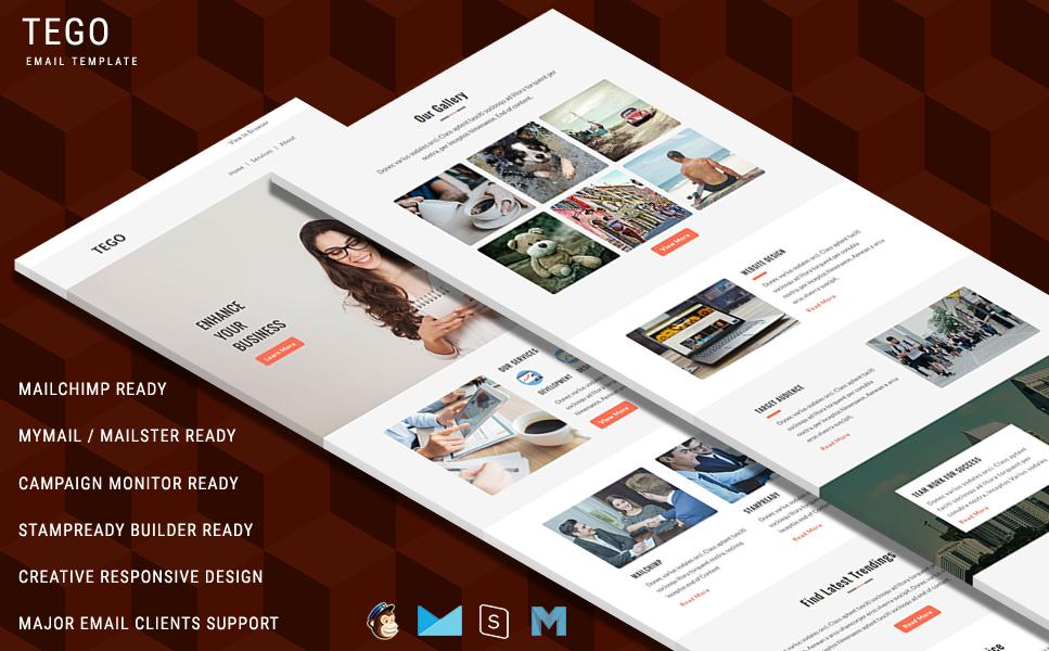 Modèle Bulletin  pour sites des services de courrier électronique Grande capture d'écran