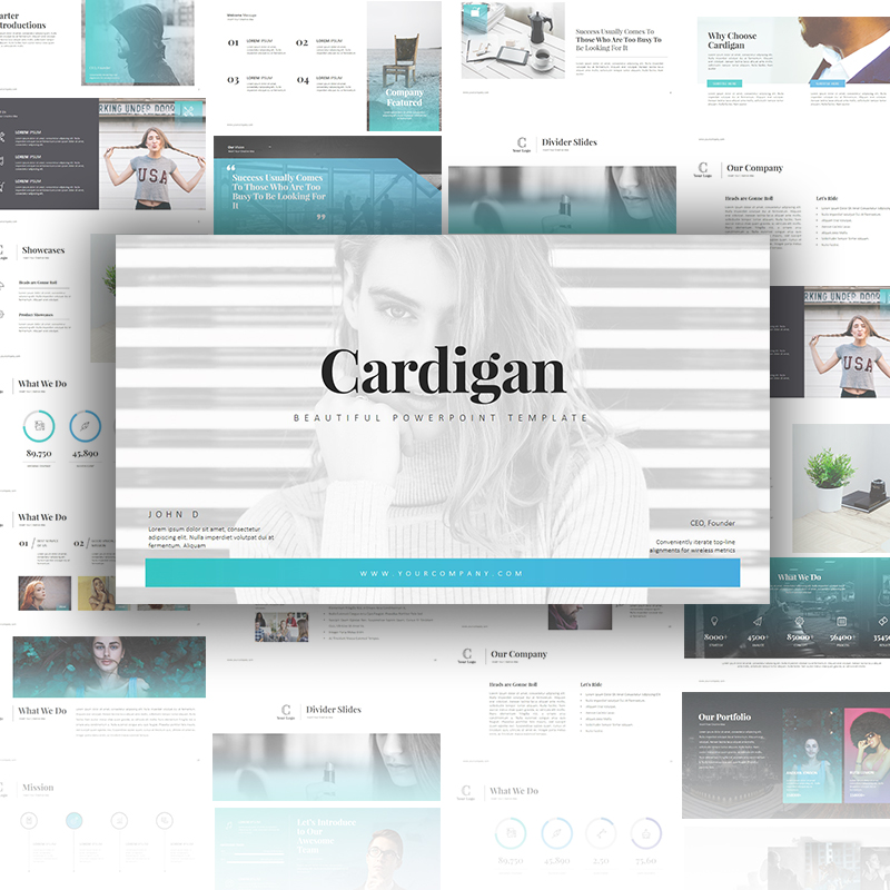 Cardigan PowerPoint Template PowerPoint Template