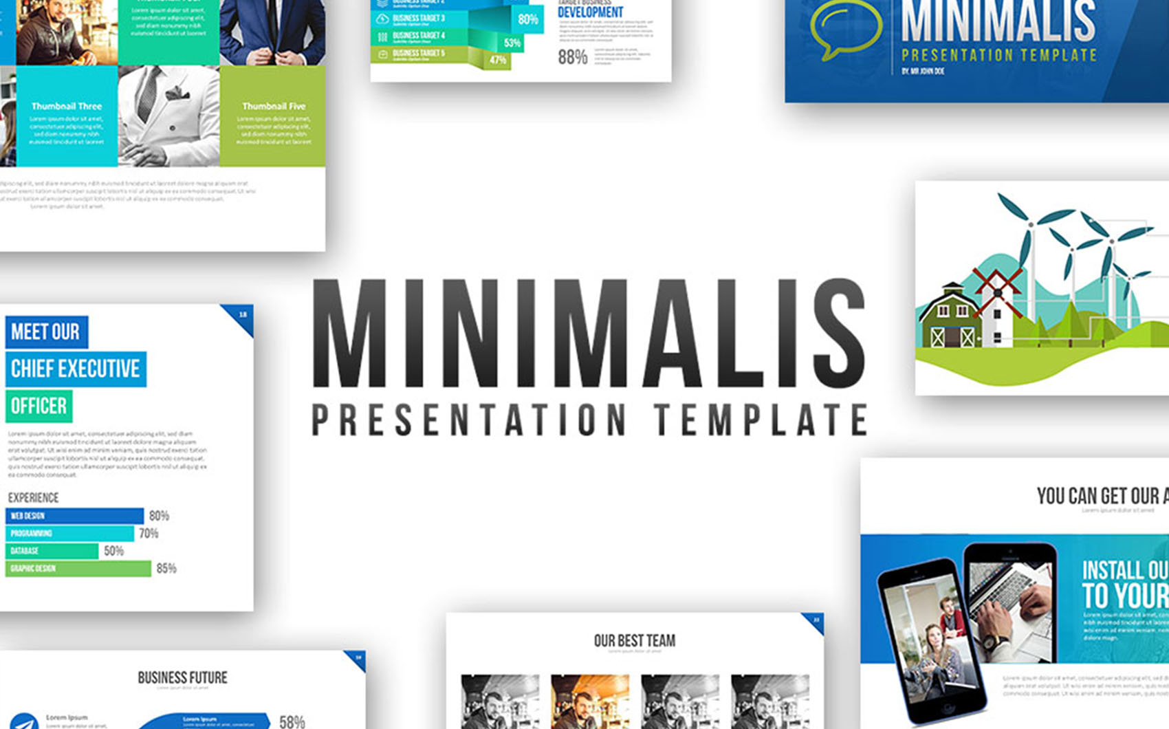 Minimalis Powerpoint Template PowerPoint Template Big Screenshot