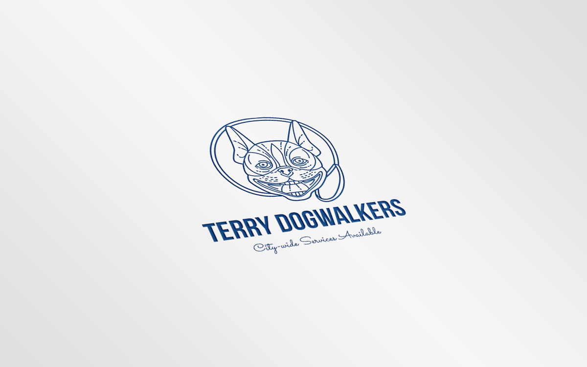 Terry Dogwalkers Logo Logo Template Big Screenshot