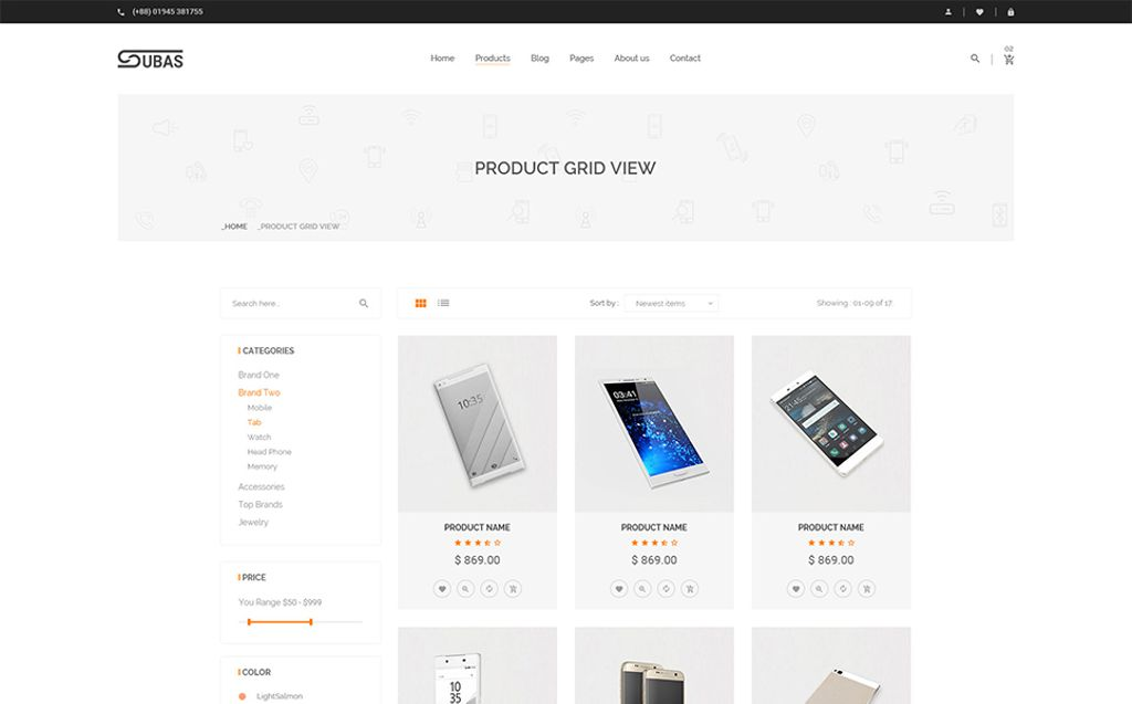 Subas - Electronics eCommerce Website Template