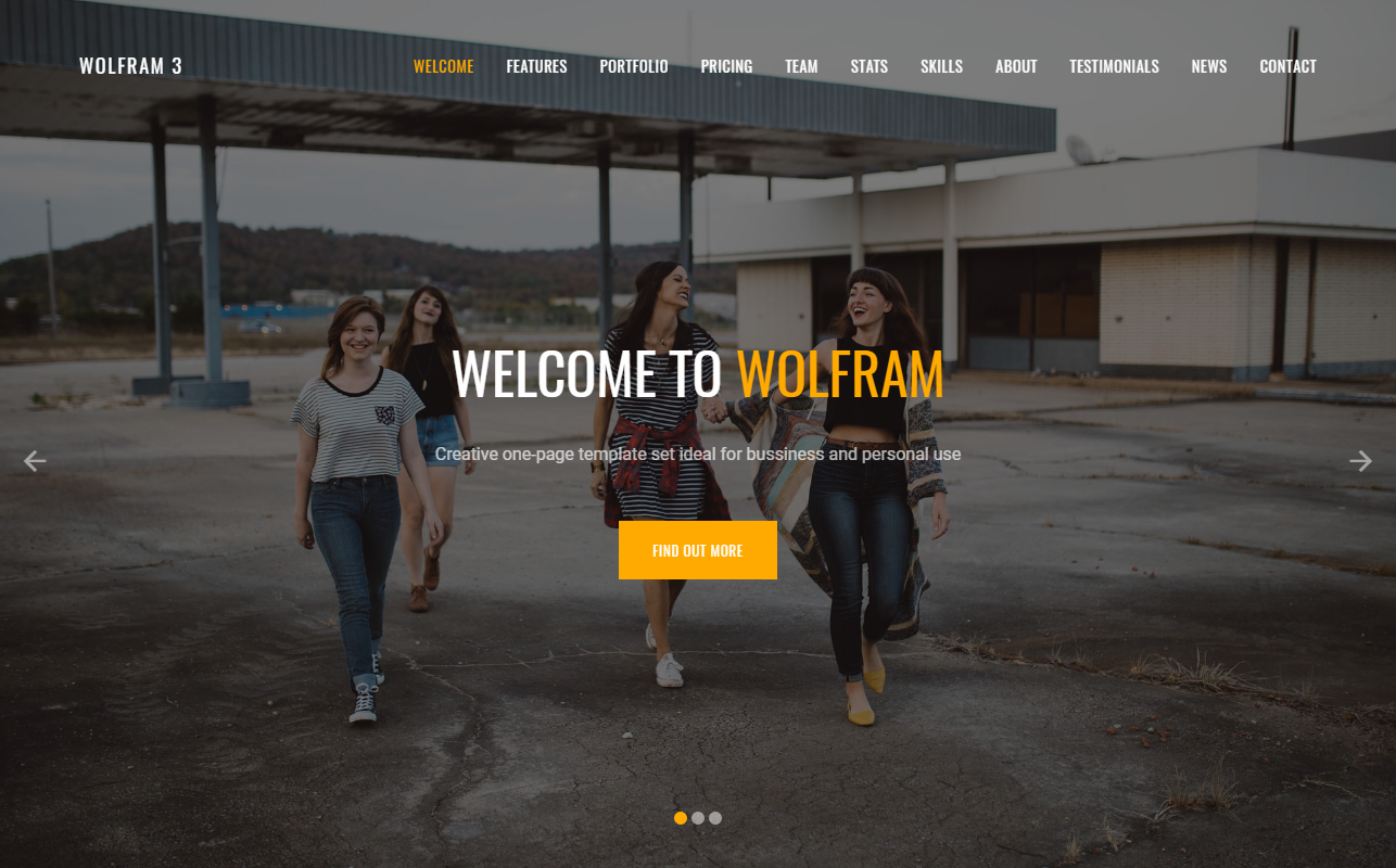 Wolfram 6 in 1 Landing Page Template Big Screenshot
