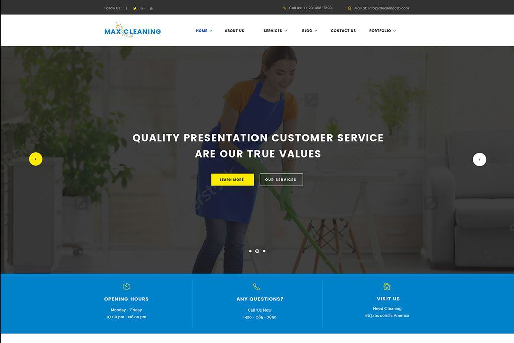 Max Clean - Cleaning Company WordPress Theme