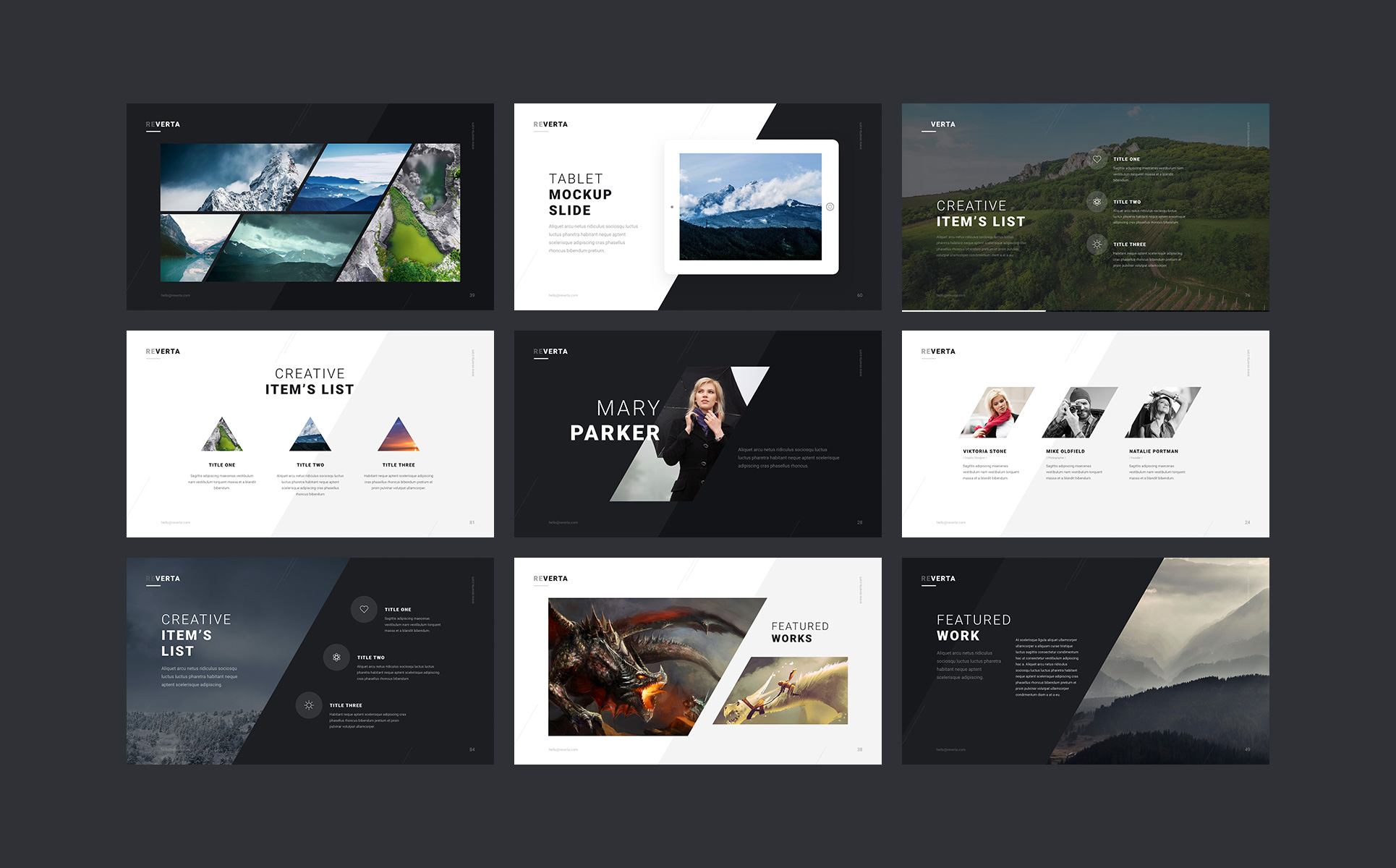Reverta PowerPoint Template Big Screenshot