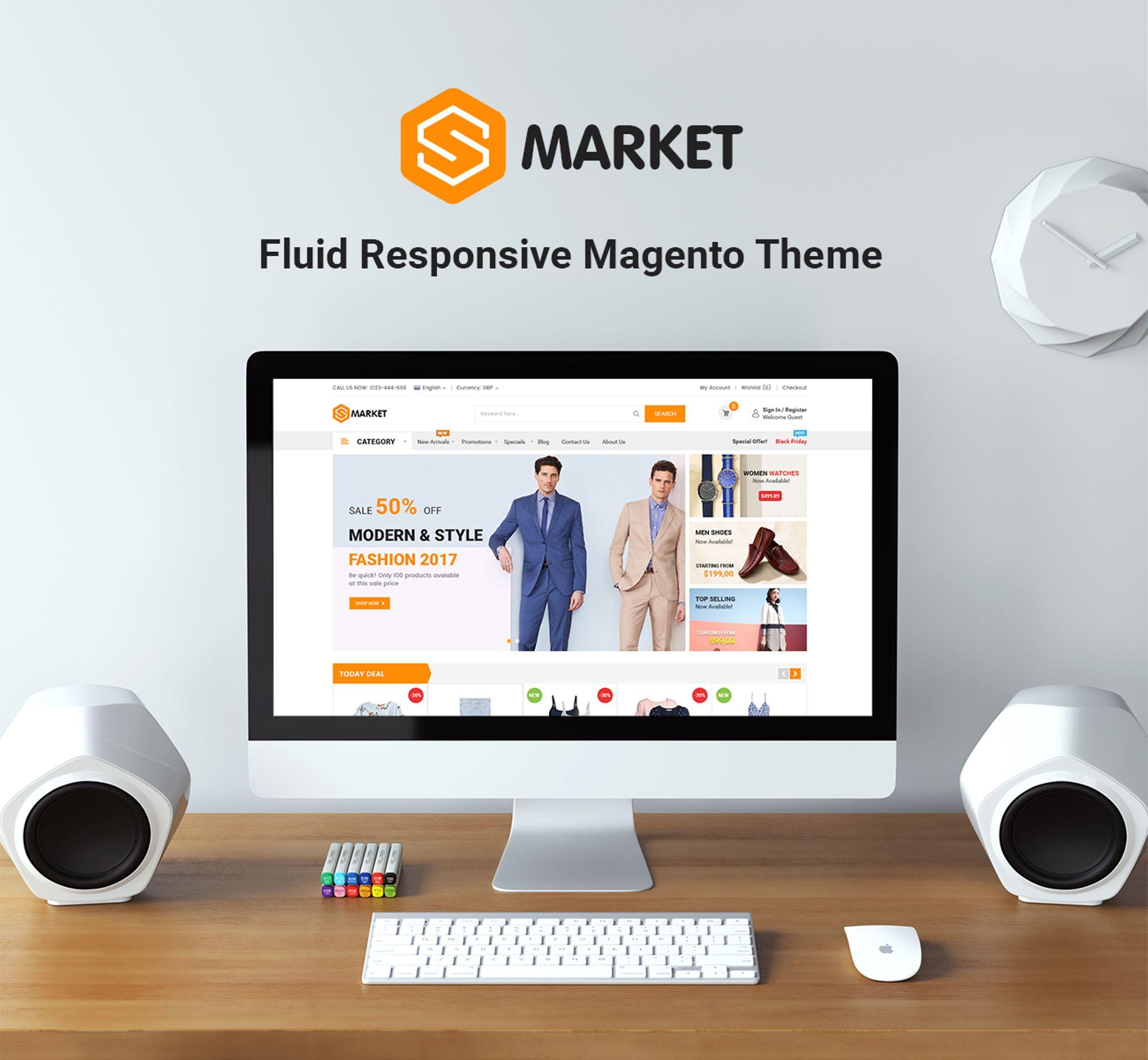 Smarket - Marketplace Responsive Magento Theme