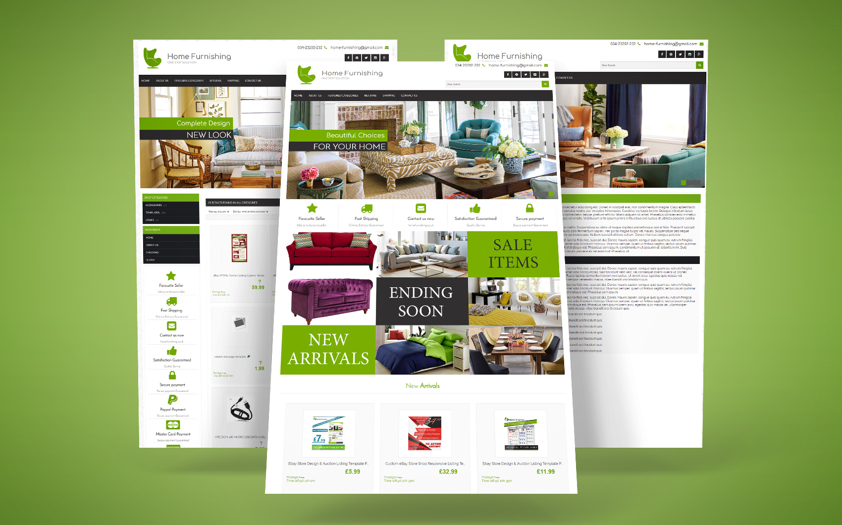 Home Furnishing EBay Template Big Screenshot