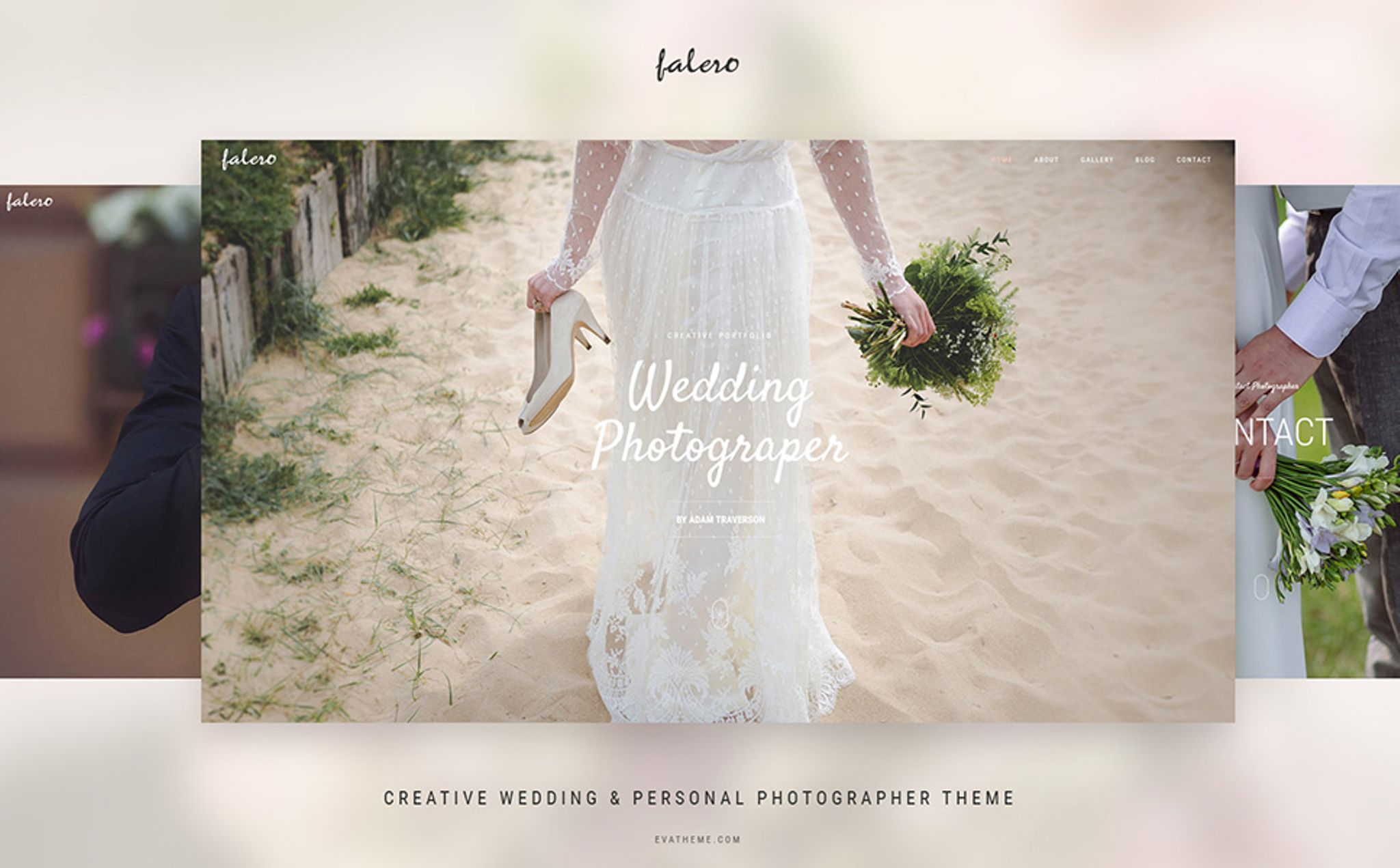Falero Wedding Photographer Theme WordPress Theme Big Screenshot