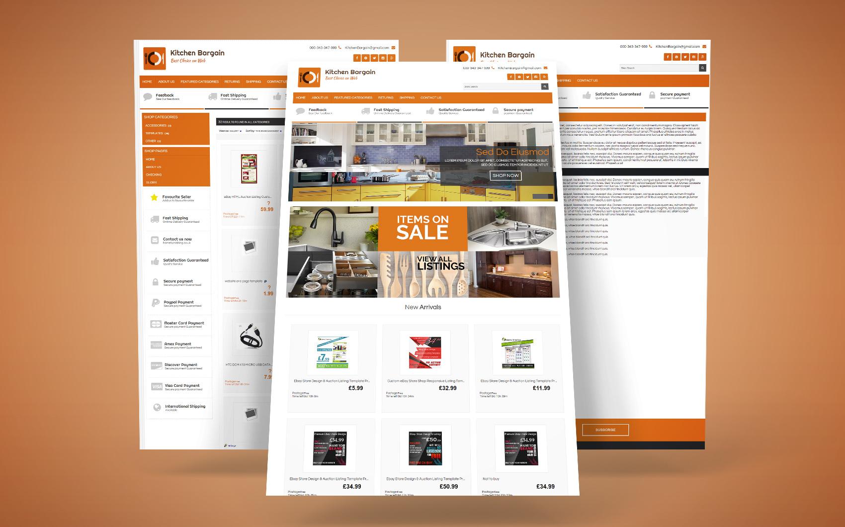 eBay Template на тему кафе і ресторани Великий скріншот