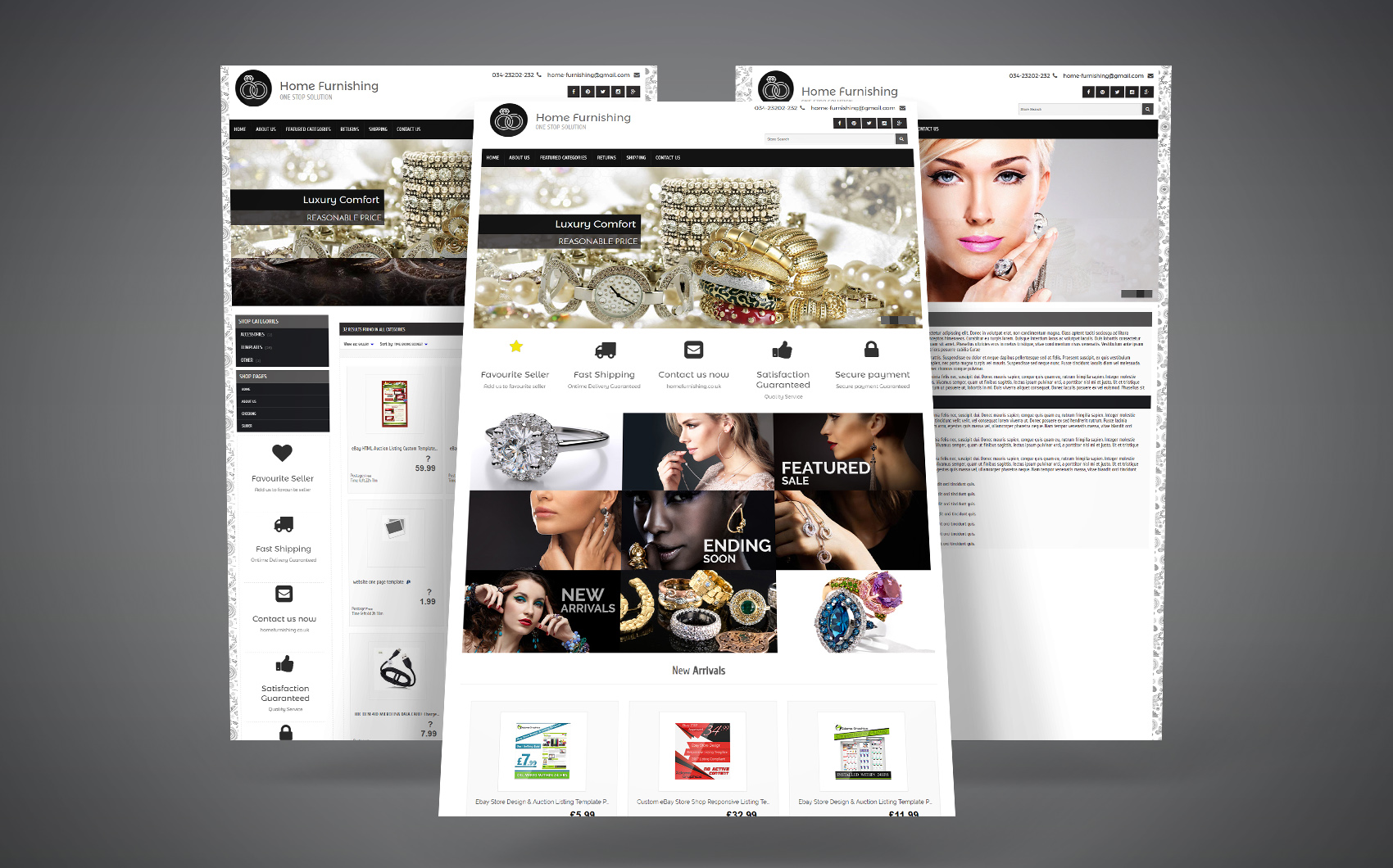 eBay Template para Sites de Beleza №64439 Screenshot Grade