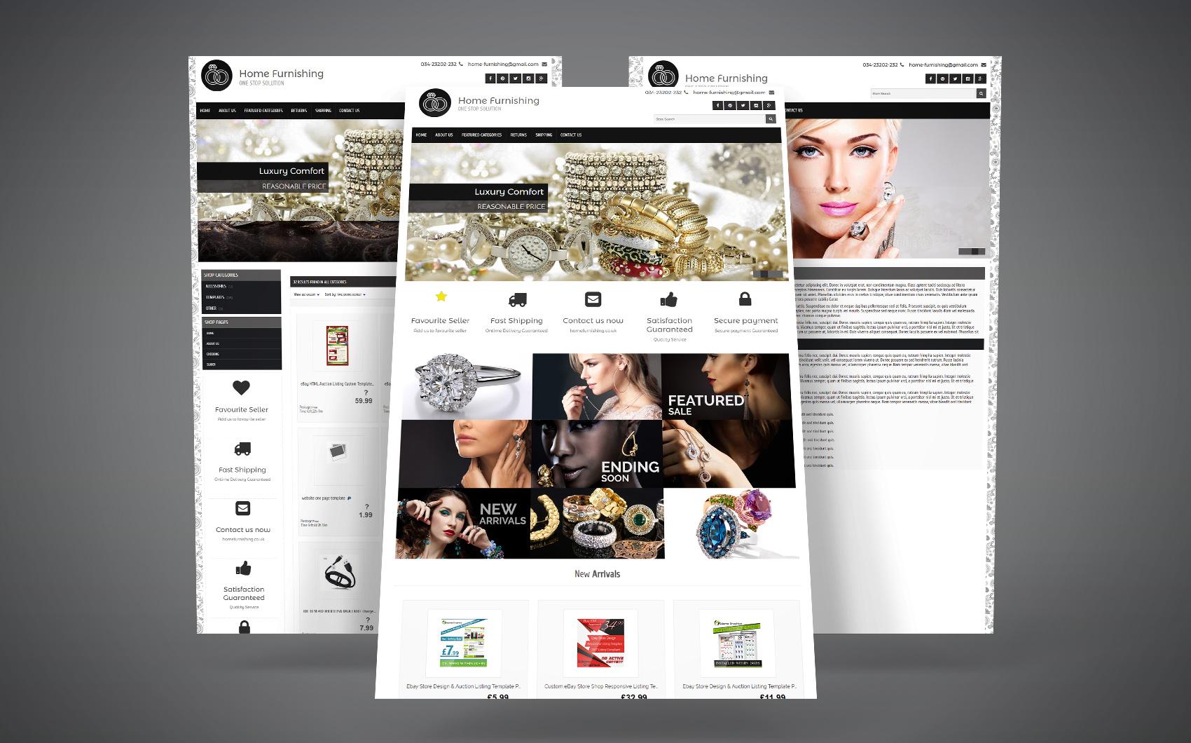 EBay Template  pour site de beauté Grande capture d'écran