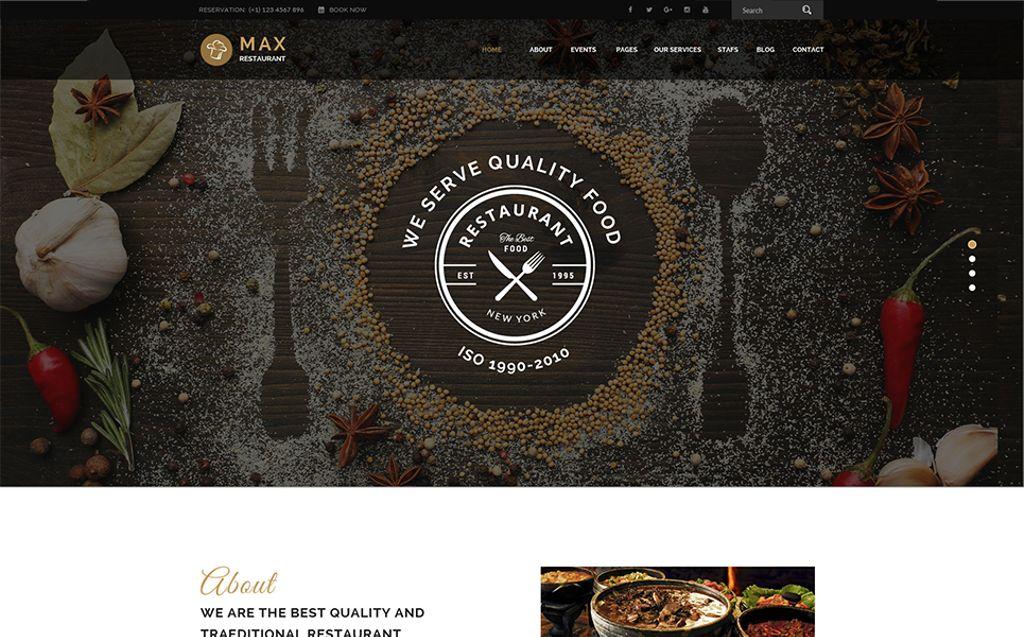 Responsive WordPress thema over BBQ restaurant  Groot  Screenshot