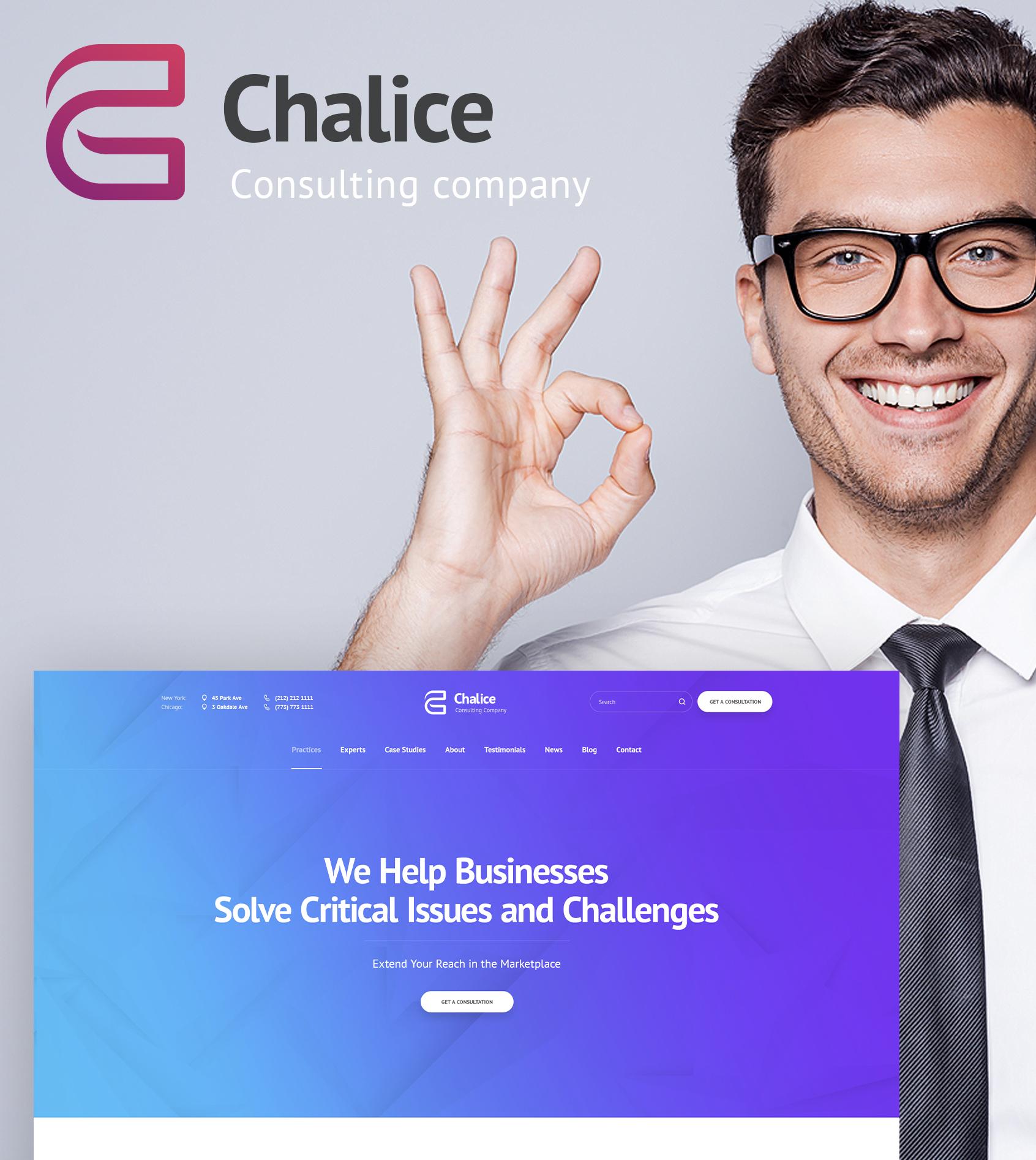 Weblium Website Concept für Finanzberater  Großer Screenshot