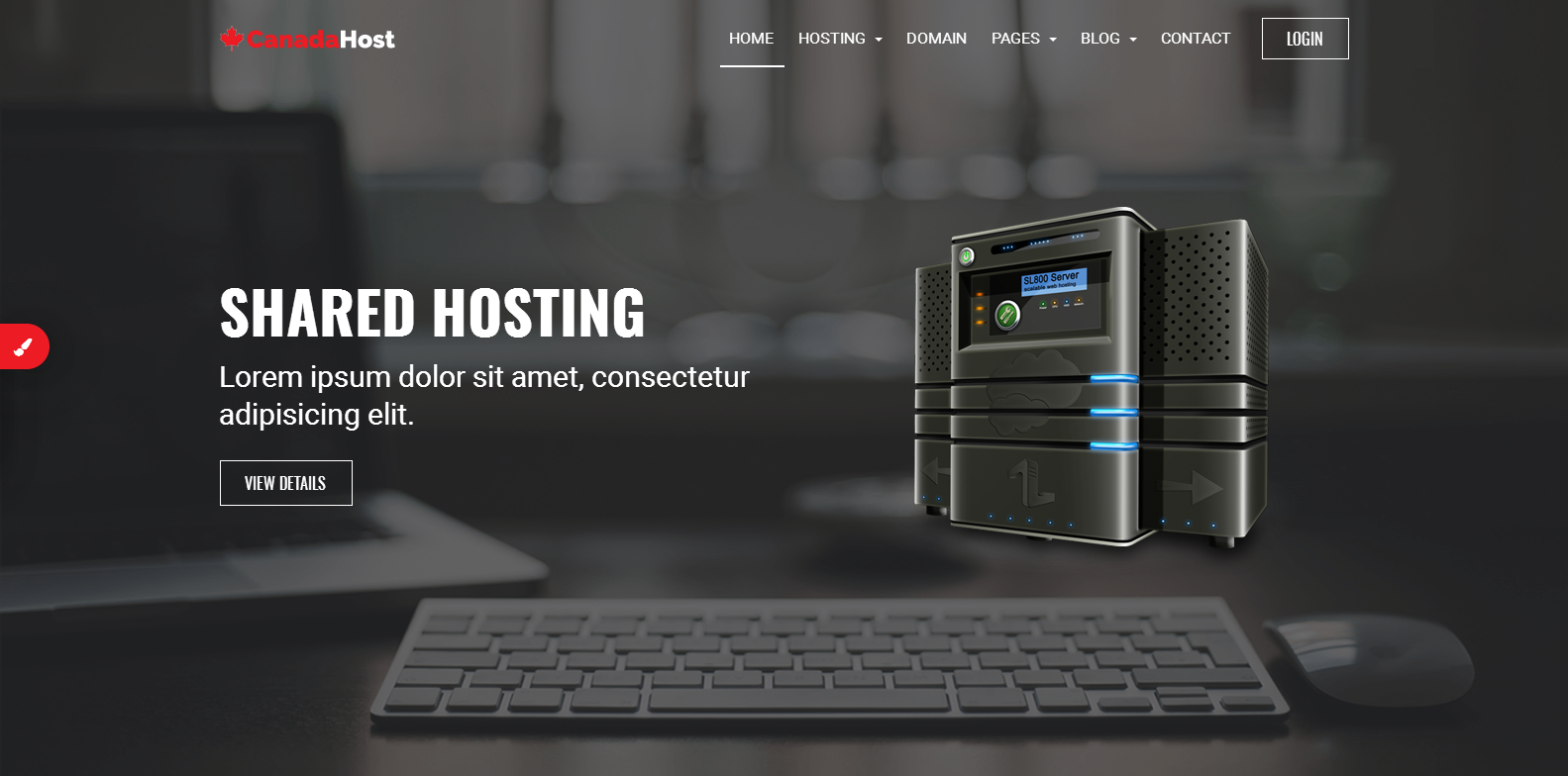 CanadaHost | Responsive HTML5 Web Hosting and WHMCS Templates Website Template