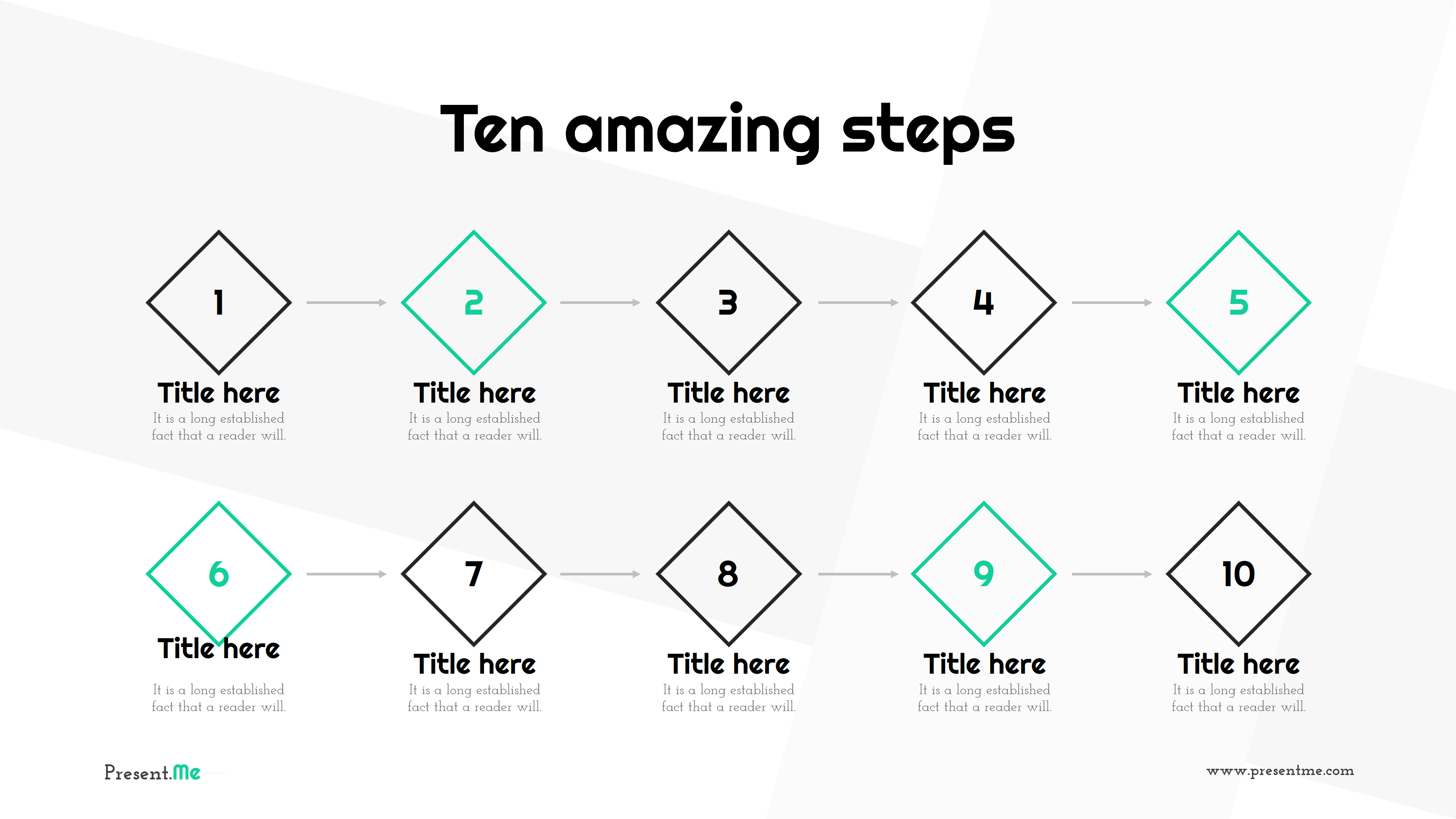 Amazing Road Lines - Presentation PowerPoint Template