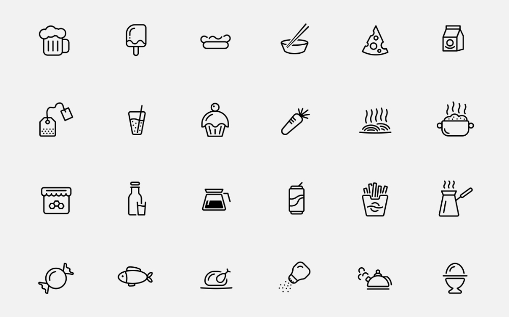 Food & Drink Iconset Iconset Template