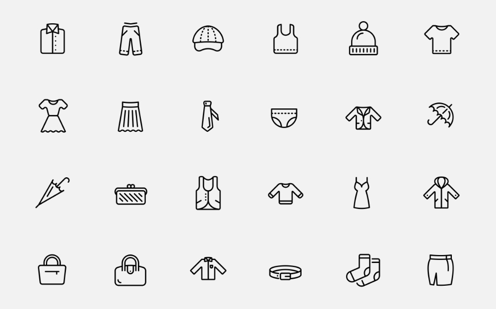 Clothes Iconset Iconset Template
