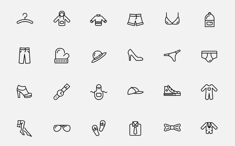 Clothes Iconset Iconset Template Big Screenshot