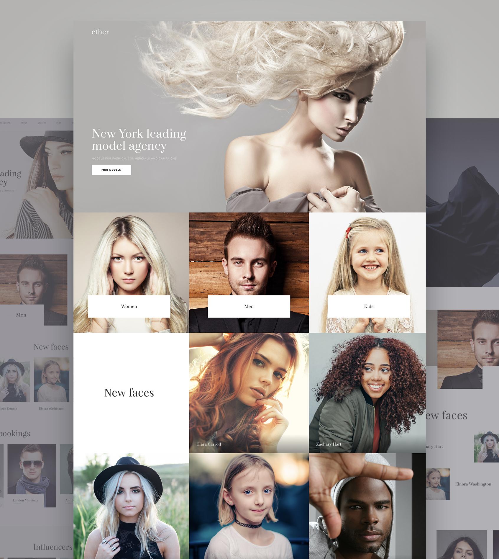 Weblium - Model Agency Website Concept Big Screenshot