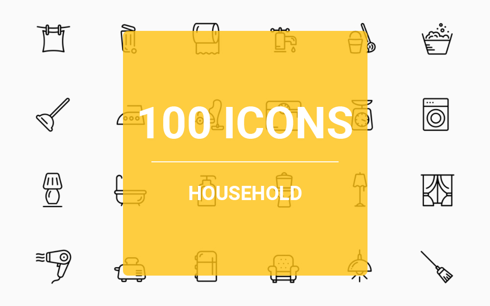 Household Iconset Template Big Screenshot