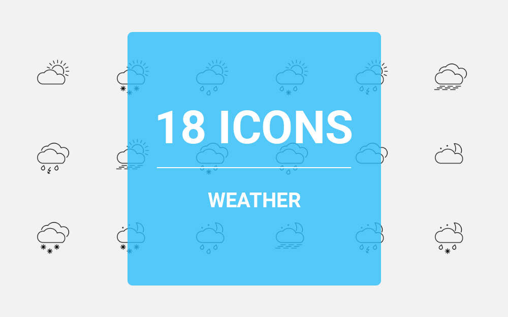 Weather Icon Set Iconset Template