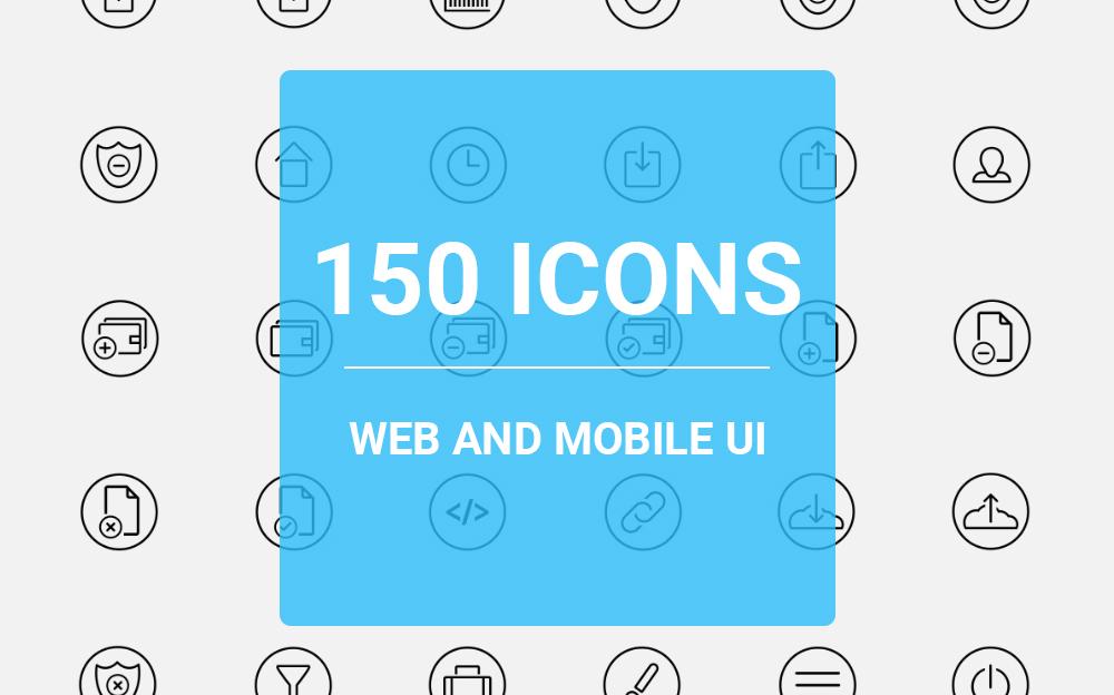 Web icons Pack Iconset Template Big Screenshot