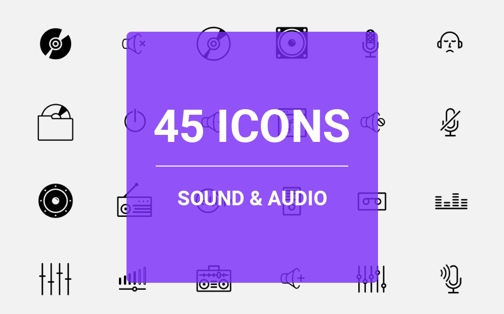 Sound & Audio Icon Set Iconset Template Big Screenshot