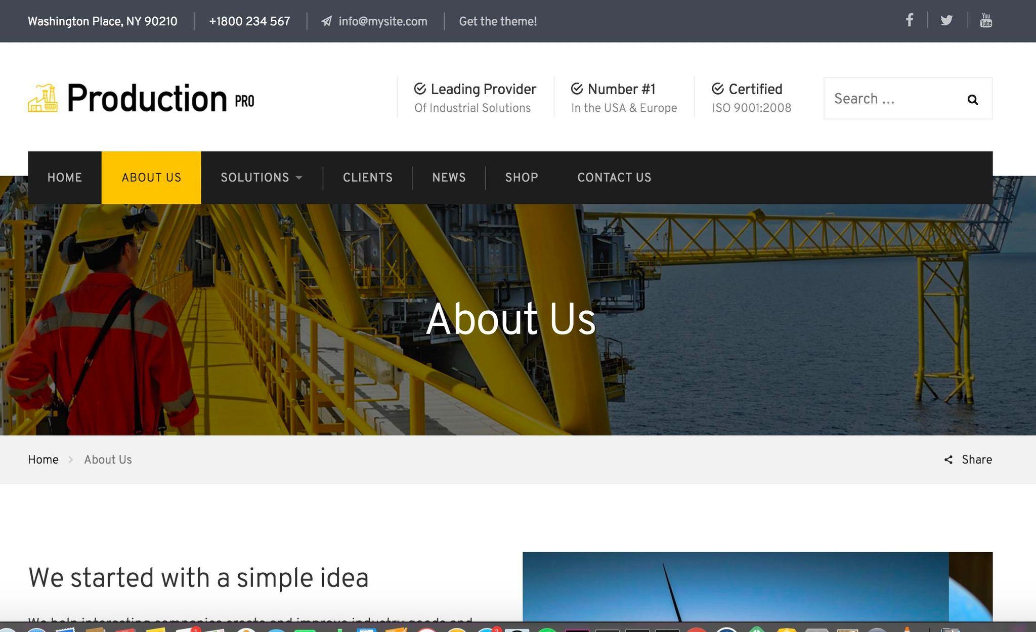 Reszponzív Gáz és olaj  WordPress sablon Nagy méretű képernyőkép