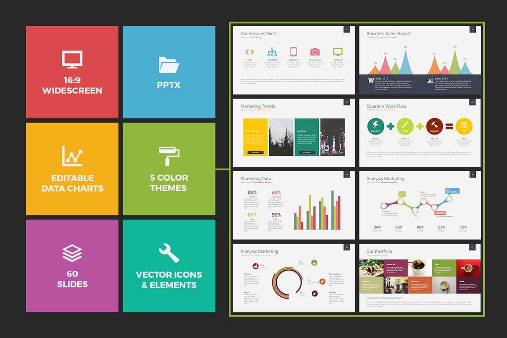 Albireo Powerpoint Template PowerPoint Template Big Screenshot