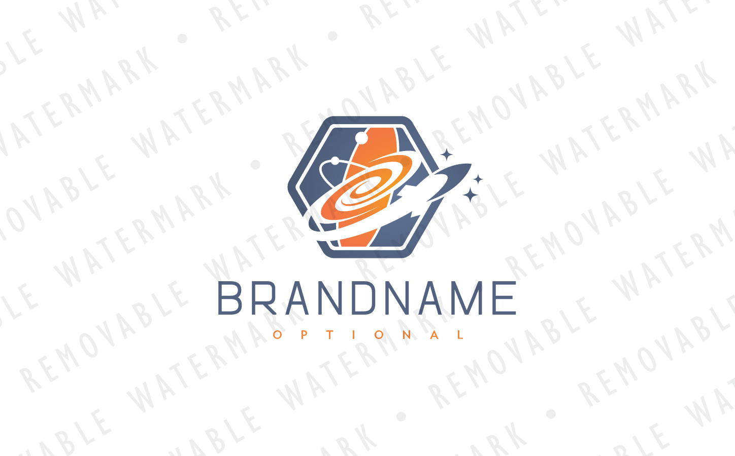 Space Exploration Logo Template