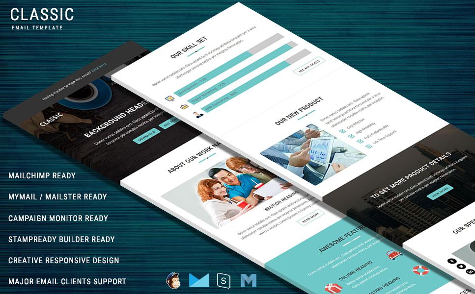 Newsletter-mall för  e-mailtjänster En stor skärmdump