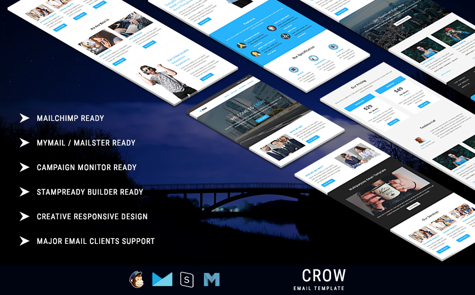 Newsletter Vorlage für E-Mail Services  Großer Screenshot