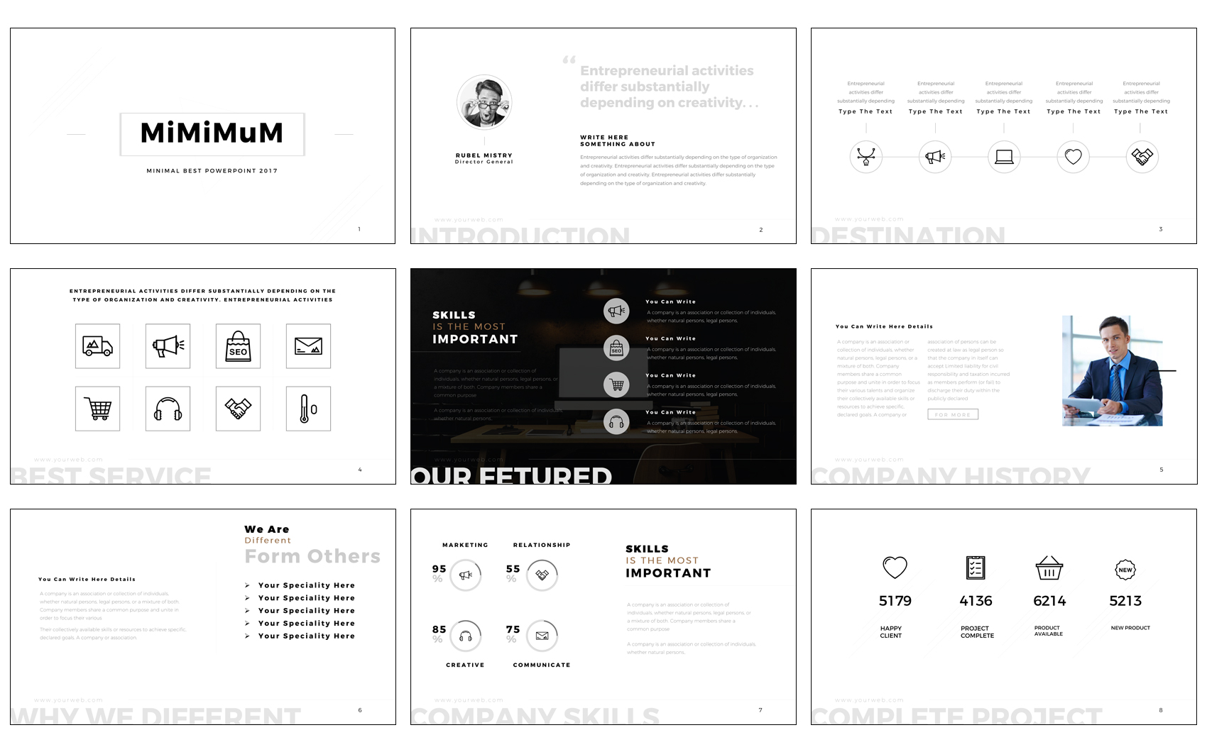 MiniMuM PowerPoint Template PowerPoint Template Big Screenshot