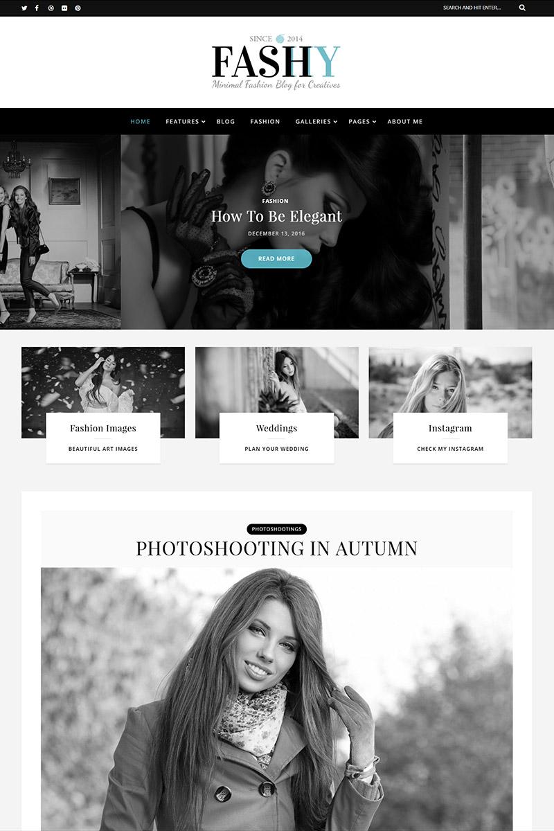 Fashy - Fashion Blog WordPress Theme Big Screenshot