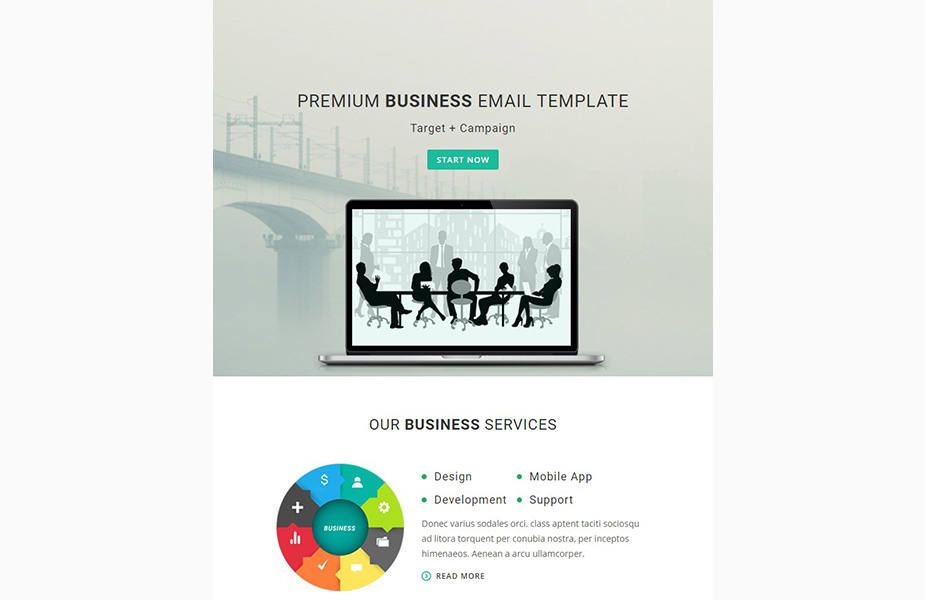 Template de Newsletter para Sites de Web Design №64535 Screenshot Grade