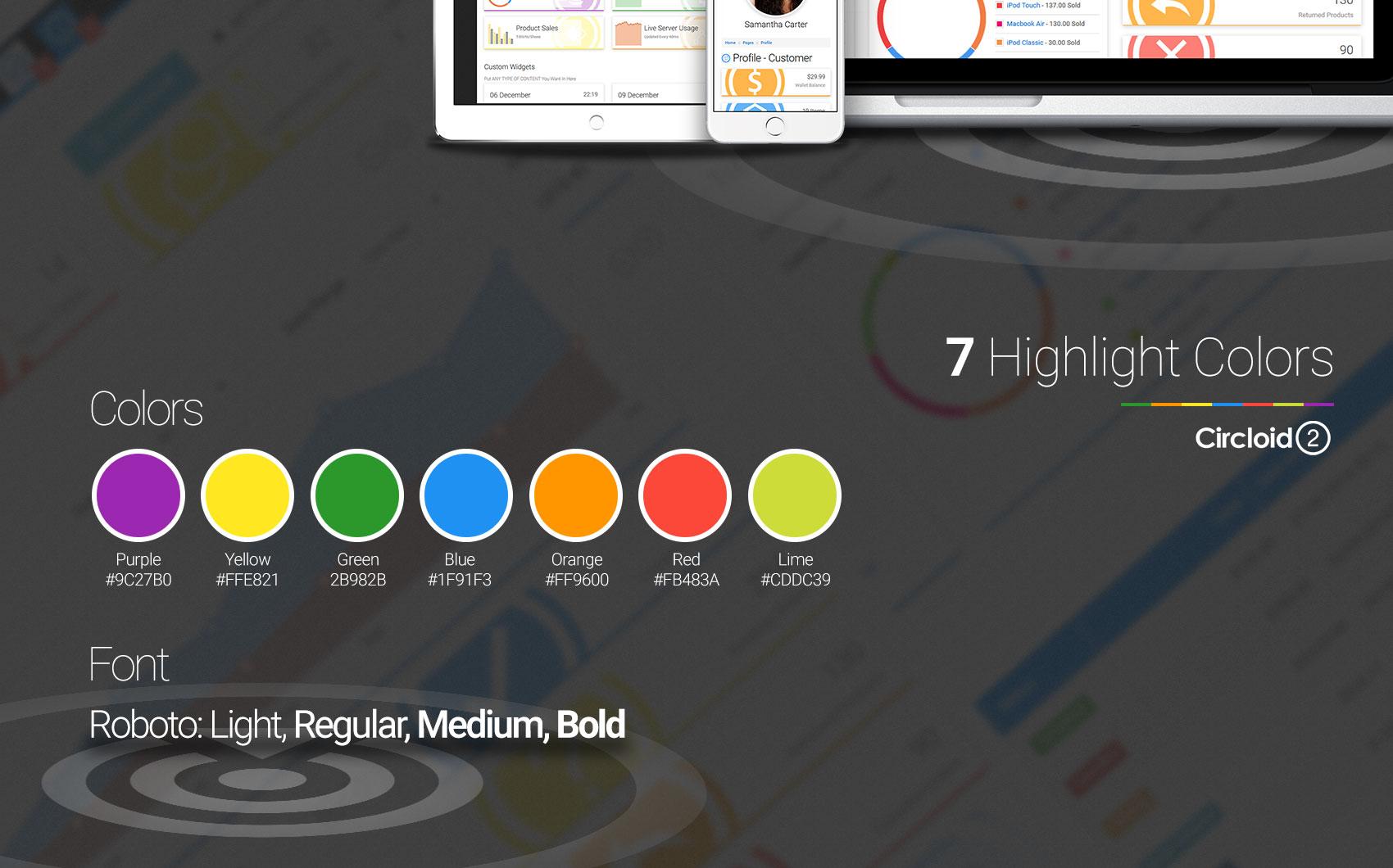 Circloid 2.0 - Responsive Dashboard Admin Template