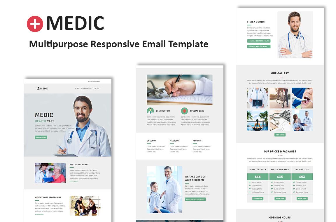Template de Newsletter Flexível para Sites de Medico №64539