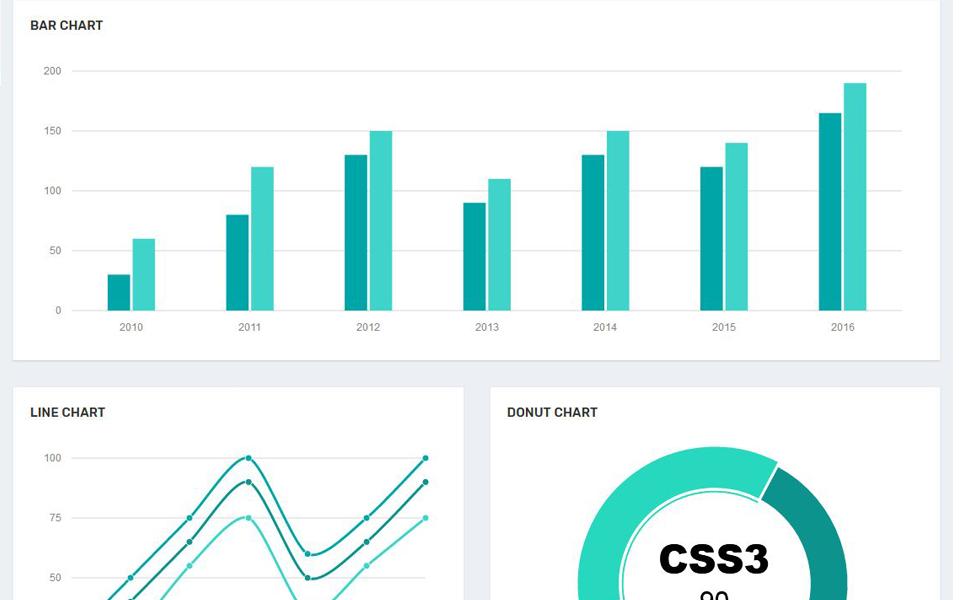 Web开发控制面板模板