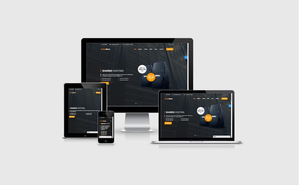 Template Web para Sites de Registro de Domínio №64623