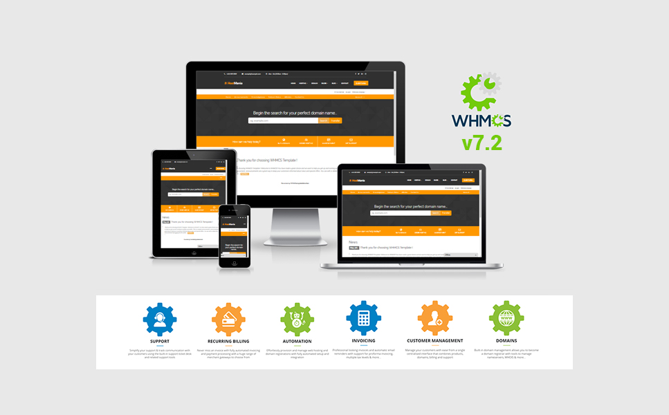 Tema Siti Web  #64623 per Un Sito di Registrazione di Dominio Screenshot grande
