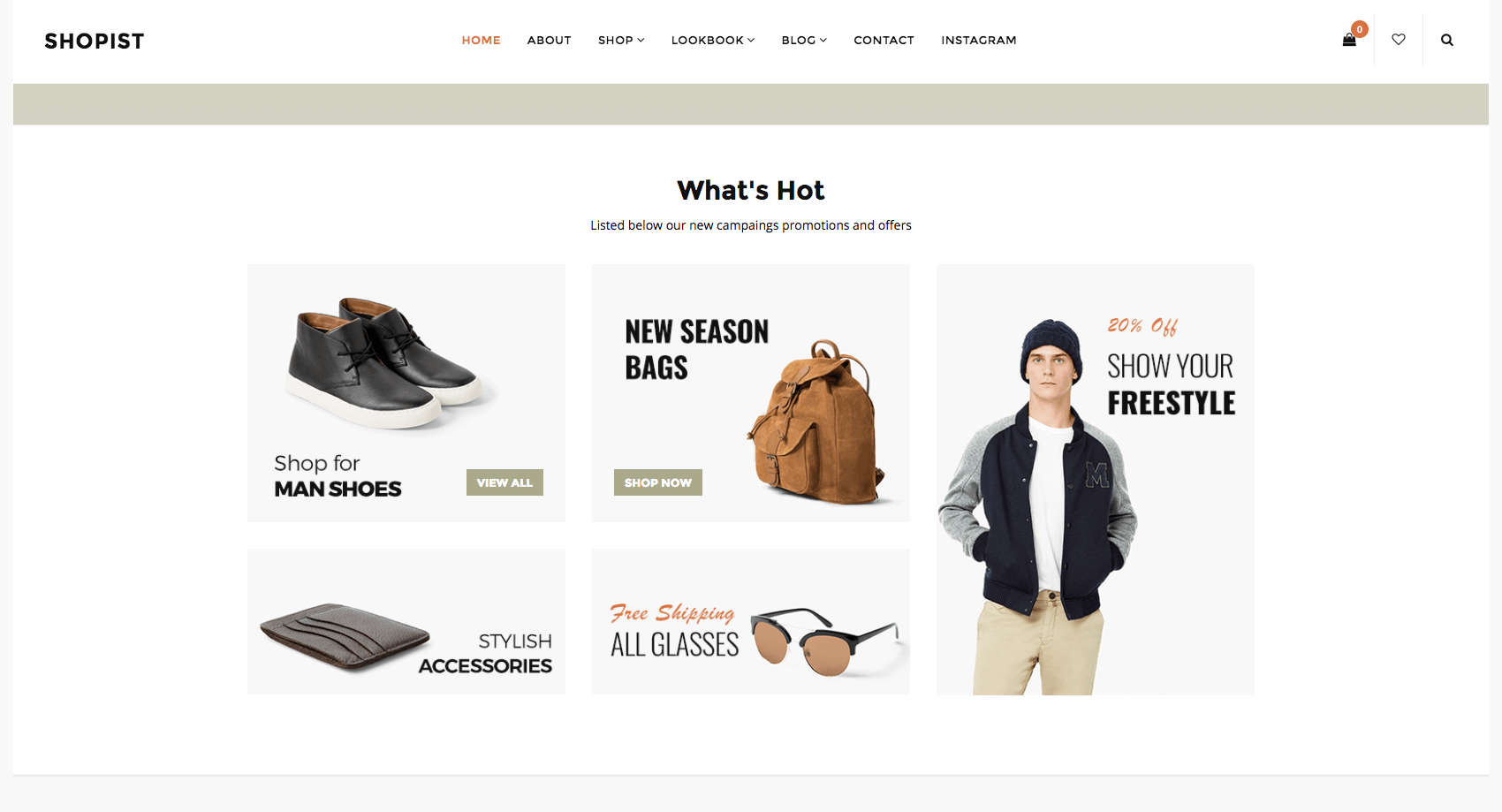 Shopist - Responsive Stylish eCommerce WordPress Theme WooCommerce Theme Big Screenshot