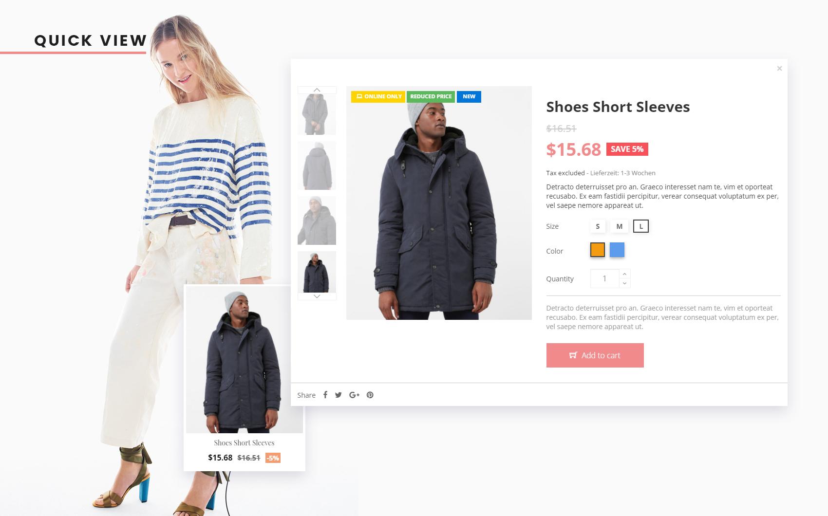 Адаптивный PrestaShop шаблон №64047 на тему магазин обуви Большой скриншот