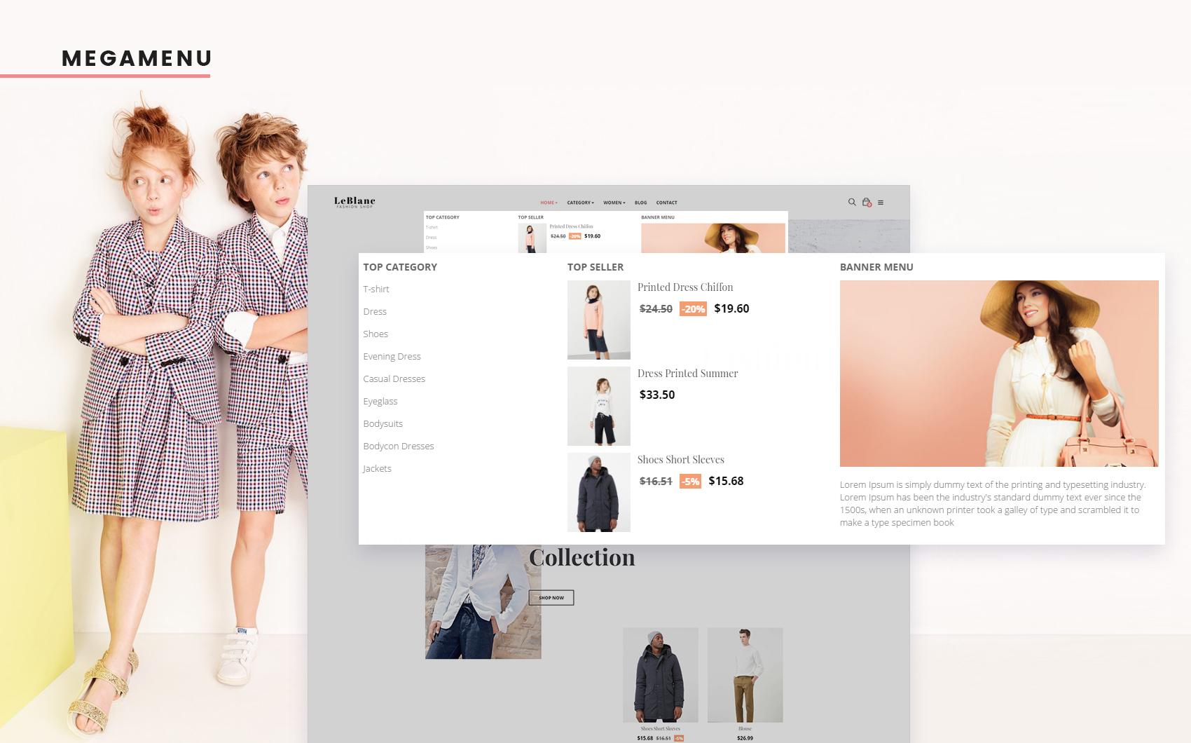 Адаптивный PrestaShop шаблон №64047 на тему магазин обуви