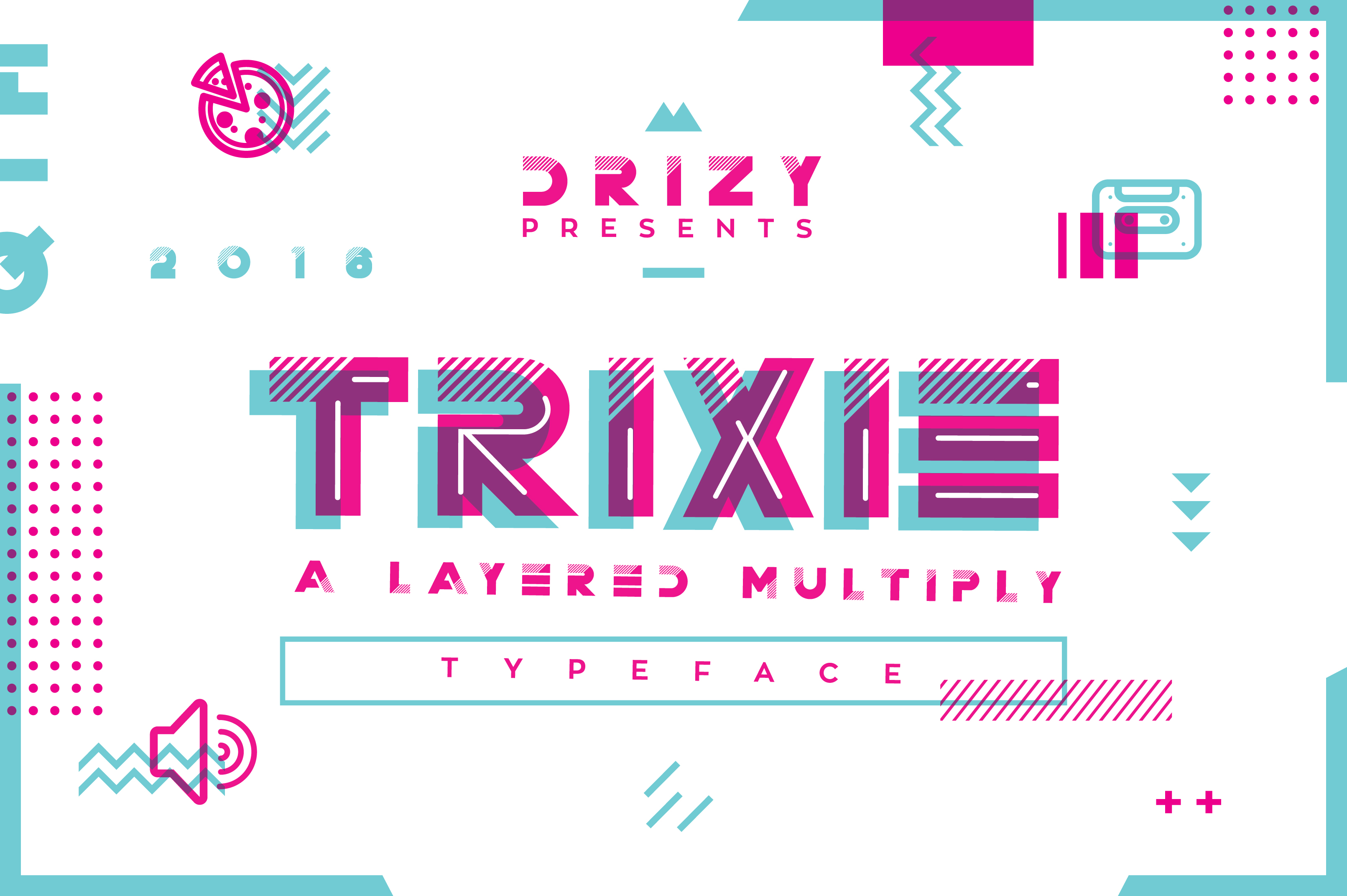 Trixie | A Layered Multiply Typeface Font