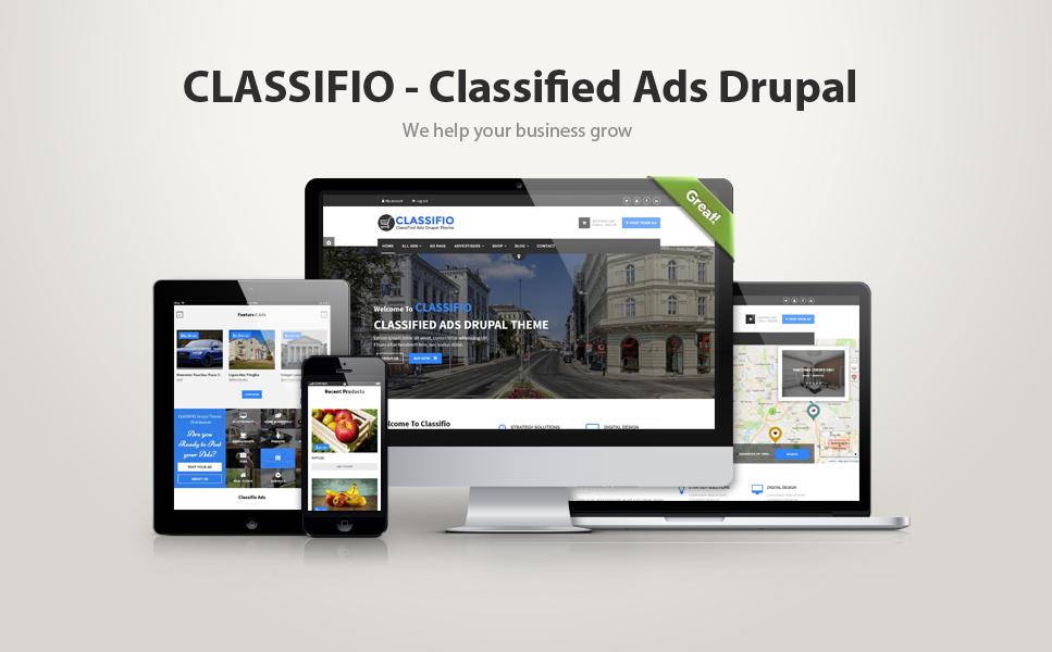 Responsywny szablon Drupal #64546 na temat: usługi biznesowe Duży zrzut ekranu