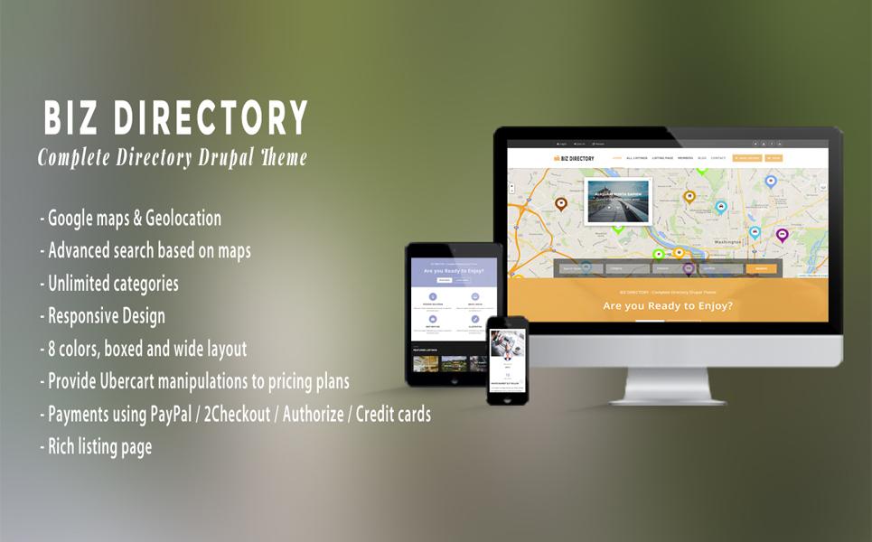 Адаптивний Drupal шаблон на тему бізнес послуги
